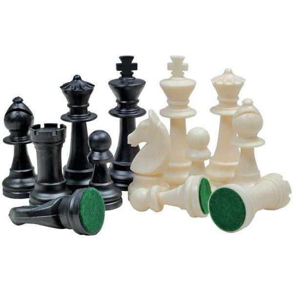 Šahovske figure Staunton No.6 Plastic