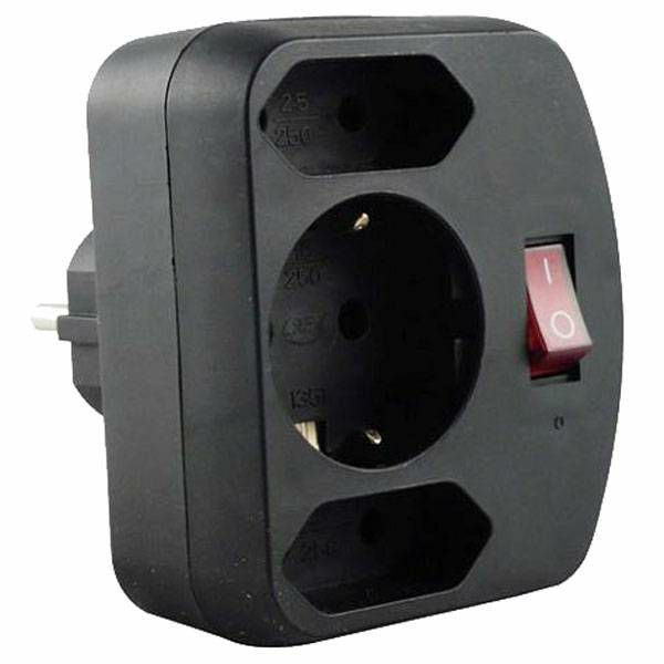 Sigurnosni Euro Adapter & Prekidač