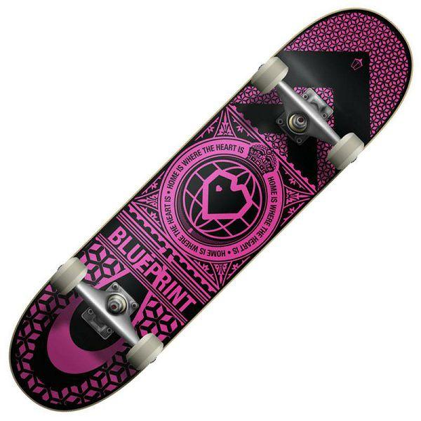 Skateboard Blueprint Home Heart 04