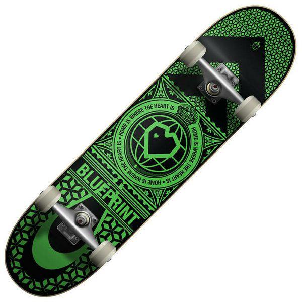 Skateboard Blueprint Home Heart 05