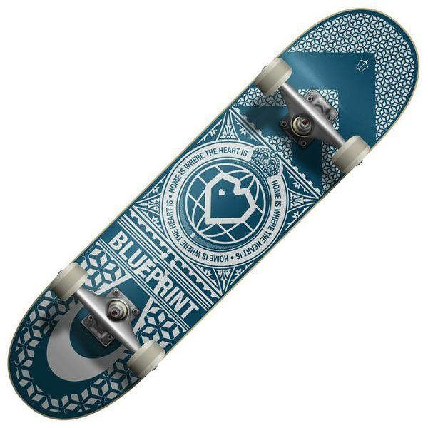 Skateboard Blueprint Home Heart 06
