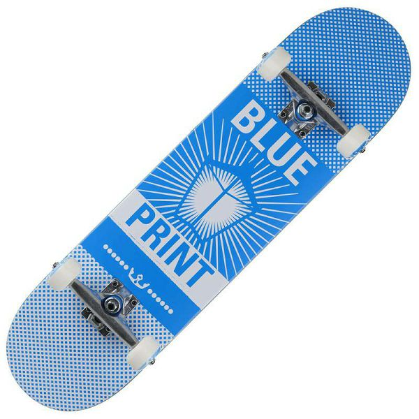 Skateboard Pachinko Blue & White 8