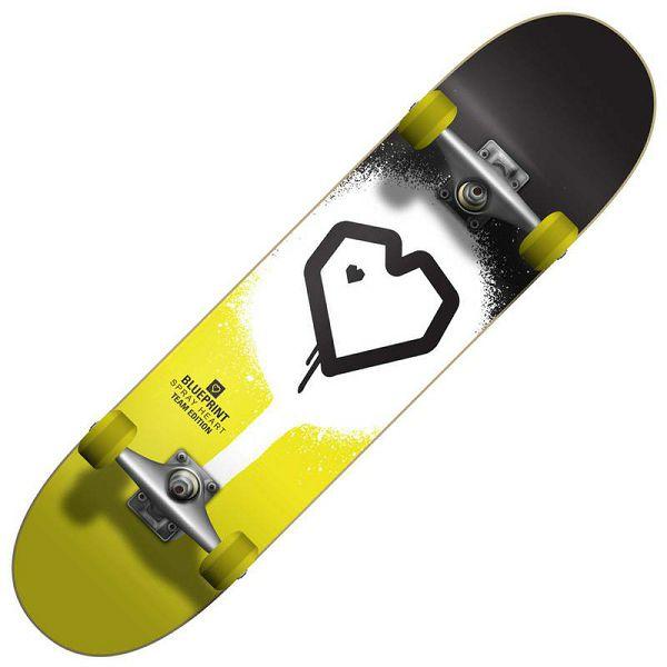 Skateboard Blueprint Spray Heart V2 7.25