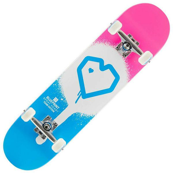 Skateboard Blueprint Spray Heart V2 7.75