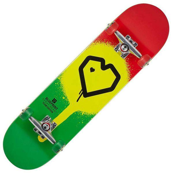 Skateboard Blueprint Spray Heart V2 8