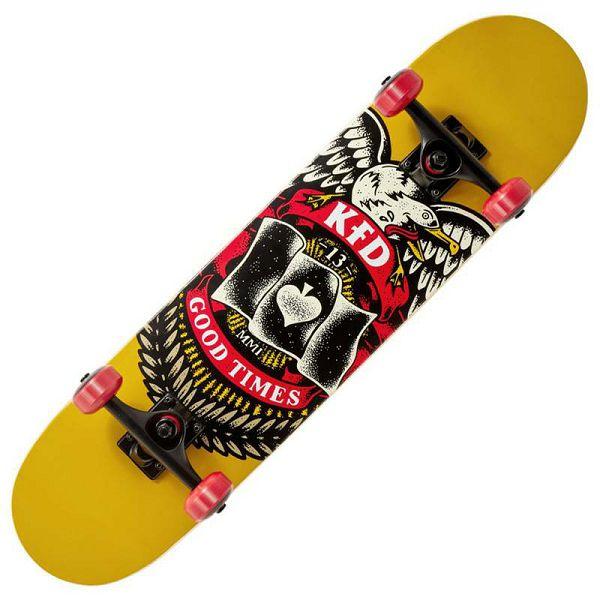 Skateboard KFD Young Gunz Badge Yellow 7.5