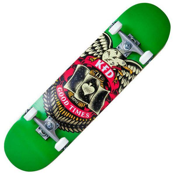 Skateboard KFD Young Gunz Badge Green 8