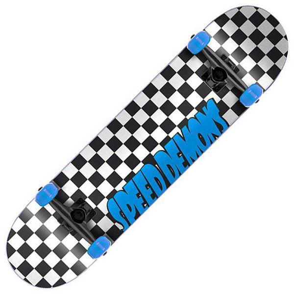 Skateboard Speed Demons Checkers Blue 7.75