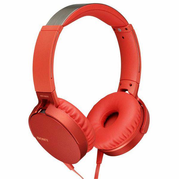 Slušalice Sony MDR-XB550APR red