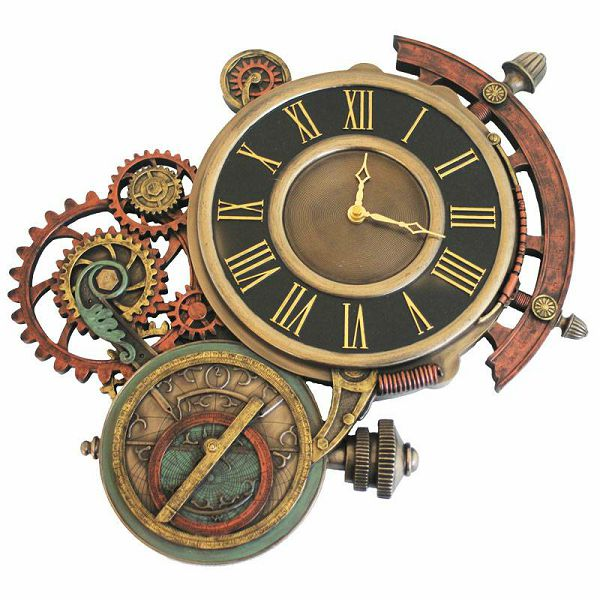 Steampunk Clock Astrolabio