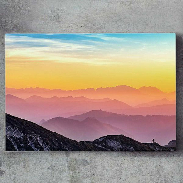 Super slika Mountain Aurora 70 x 45 cm