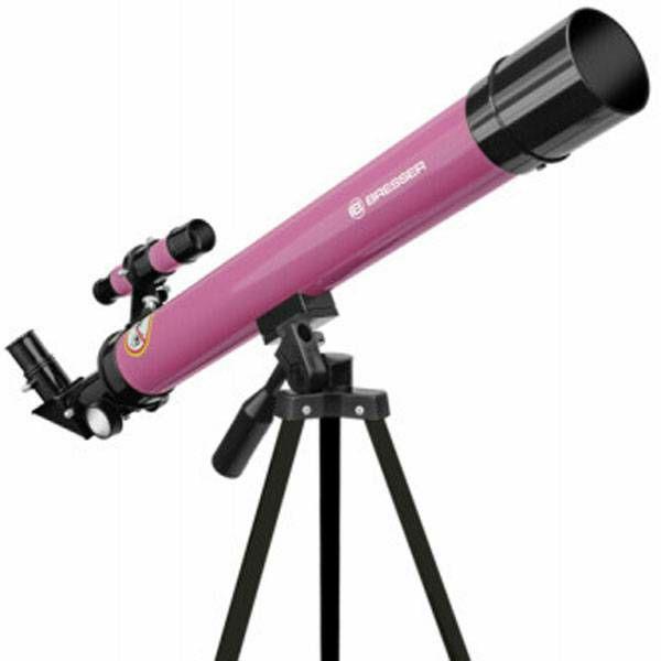 Teleskop Bresser Junior 50/600 AZ pink Refractor
