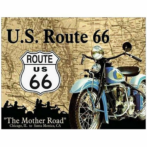 Tin Sign Route 66 Mother Road
