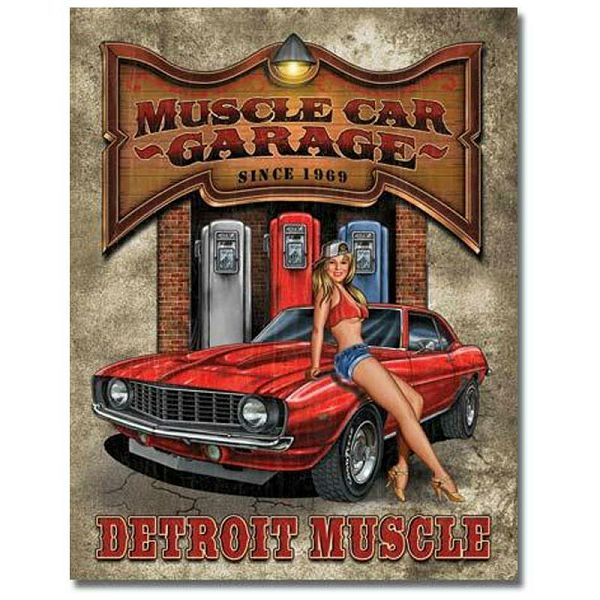 Tin Sign Muscle Car