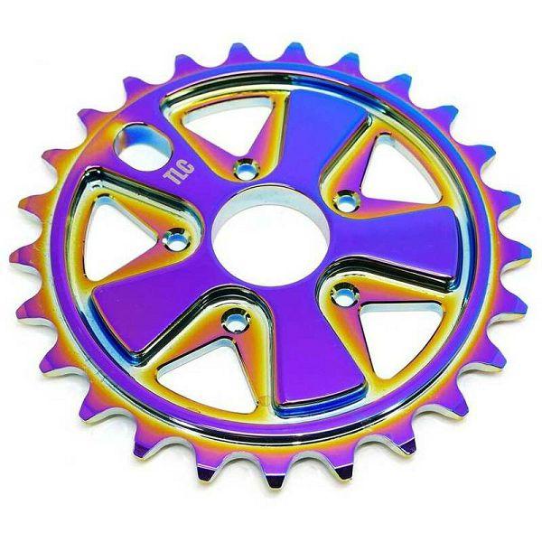 TLC Vintage 5-Spoke Freestyle BMX Sprocket Rainbow