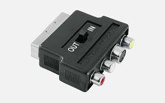 Video Adapter S-VHS / 3 RCA Jacks-Scart 42357