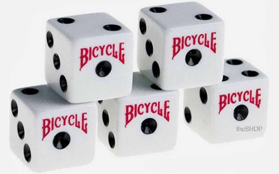 Bicycle kocke bijele 5 komada
