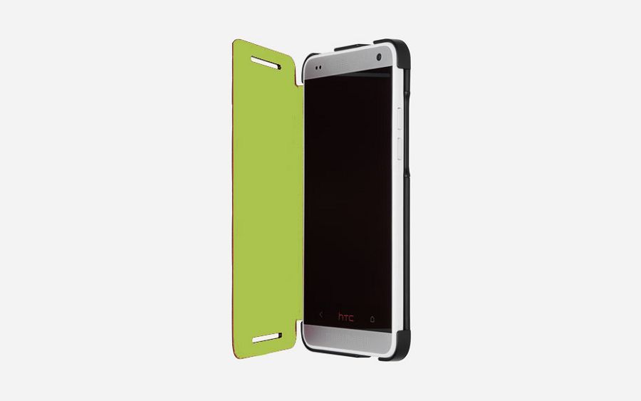 HTC One Mini Black & Green Double Dip Flip Case