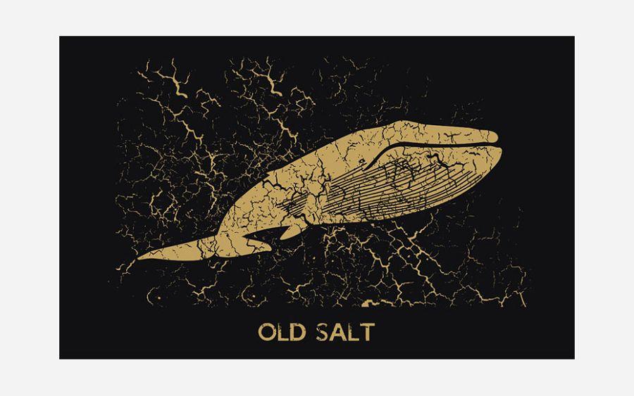 Majica Old Salt crna L