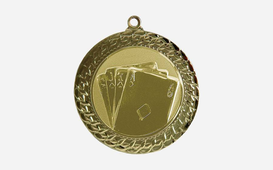 Poker medalja MMC2072G zlato