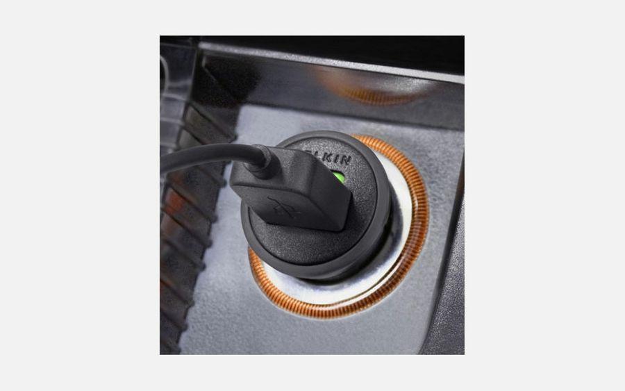 Punjač Belkin Micro Car Charger 1 A black