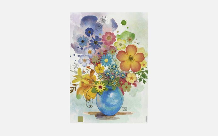 Puzzle Puzzel Blue Vase 500