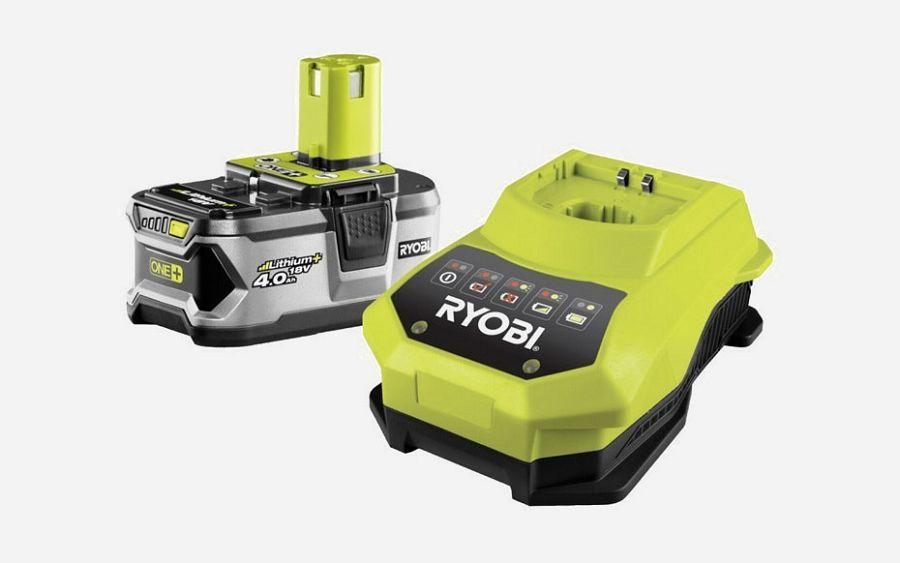 Ryobi RBC18L40 ONE+ 18V/4,0 Ah Battery + Charger