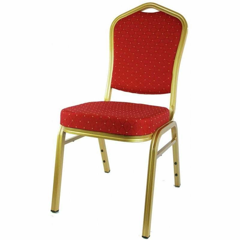 Stolica aluminijska crvena